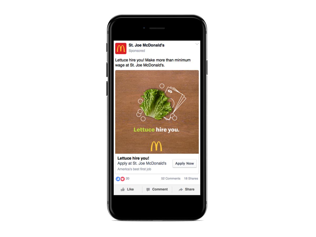 McDonald's ad mockup.